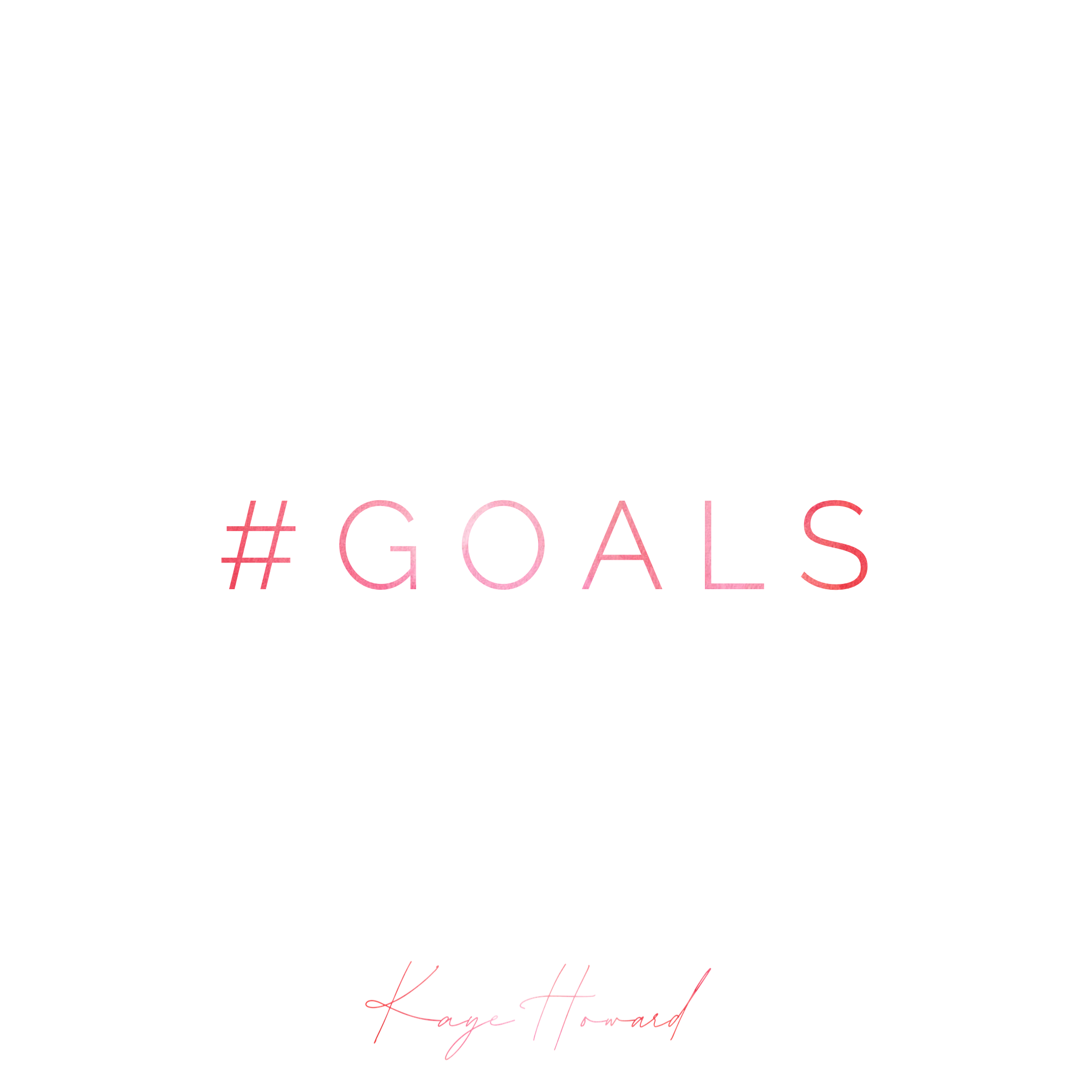 Goal-Setting: Getting to that one BIG thing