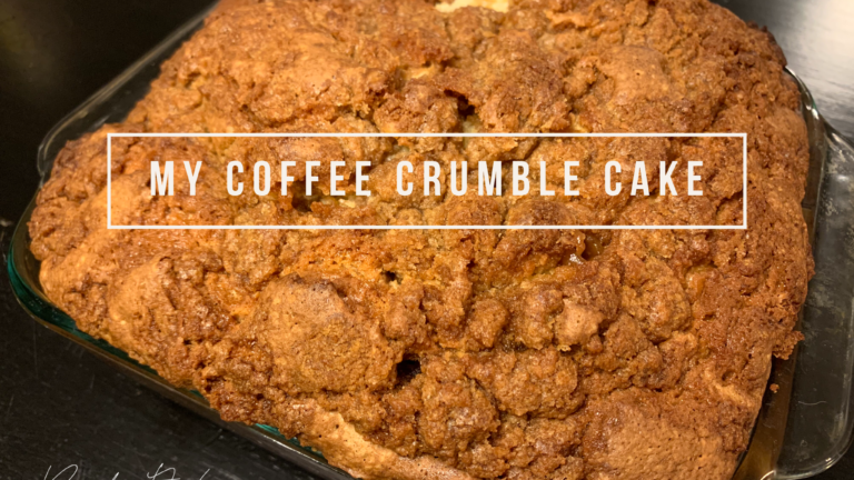 Substitutions Likely: My Coffee Crumble Cake!
