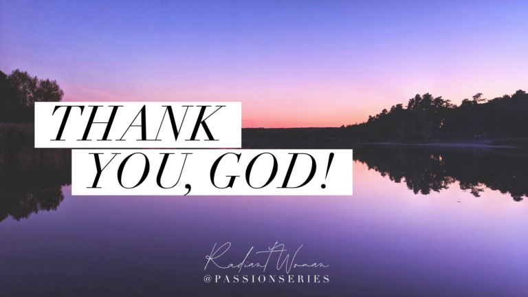 Thank You, God!
