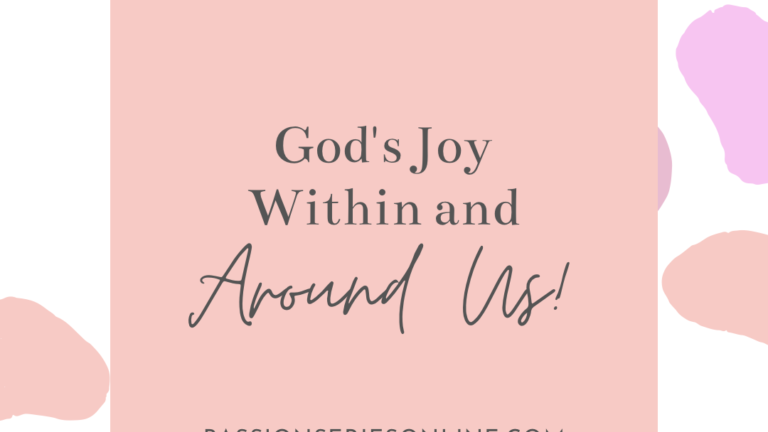 God's Joy Within and Around Us